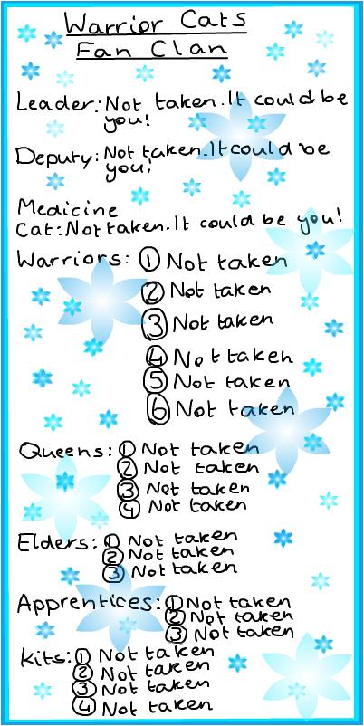 Warrior Cats Fan Clan!