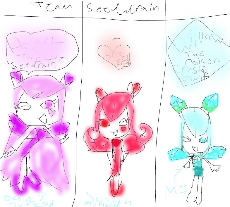 team seedrain me and my freinds bella sophiea