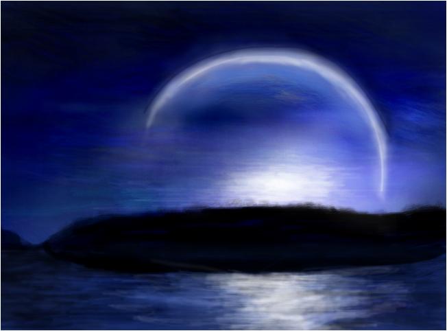 Abstract Moon