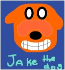 Jake the dog off of ADVENTURE TIME