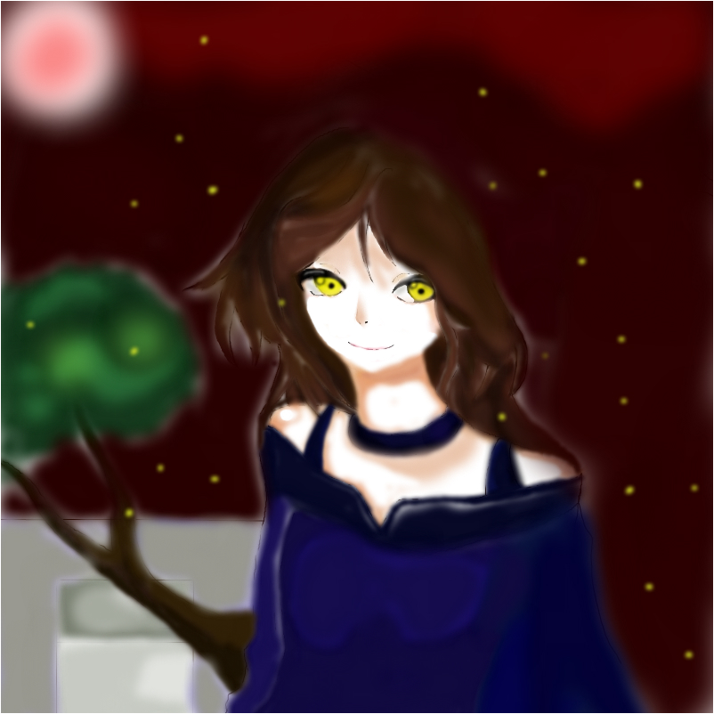 The Vampire Girl and the Fireflies
