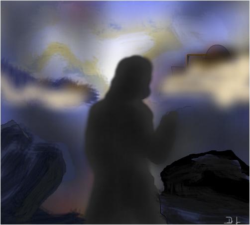 He took him upon an unusually high mountain