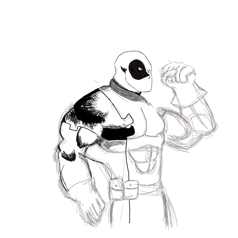 Esboço de Deadpool