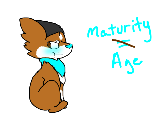 Don't have to be mature to know my edge~