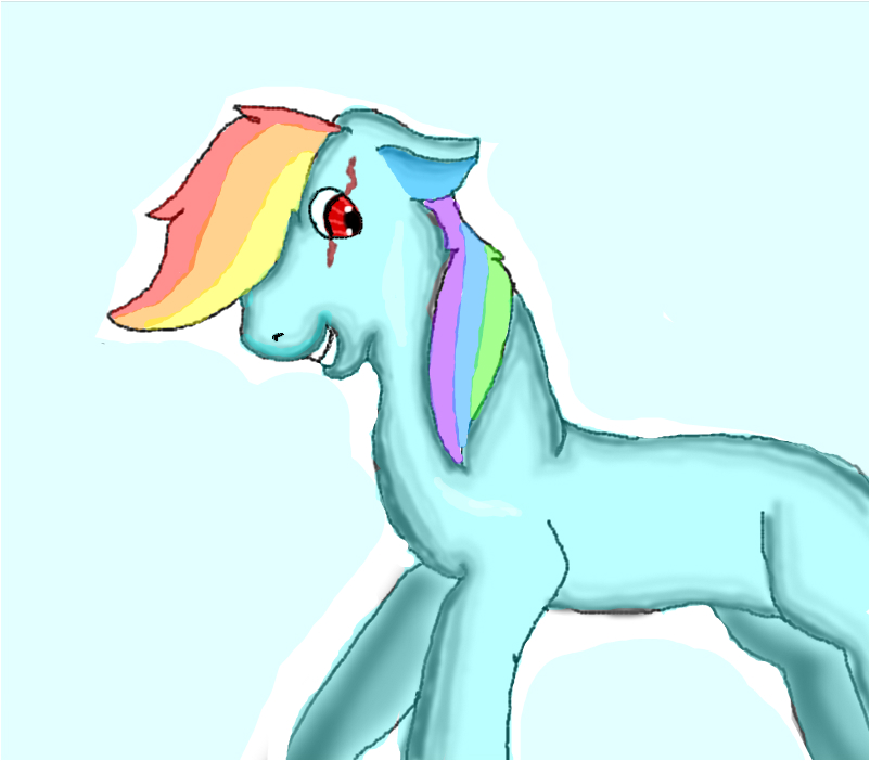 Rainbow dash with no wings