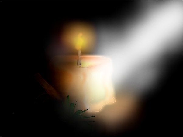 candle in the light
