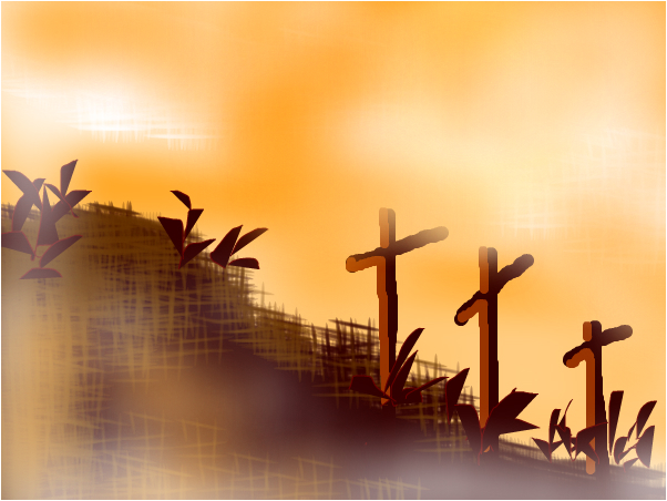 crosses in the morning