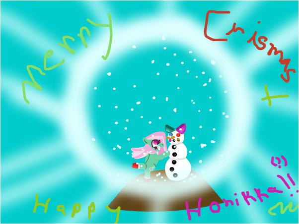 a very minty snowglobe