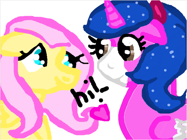 me and fluttershy