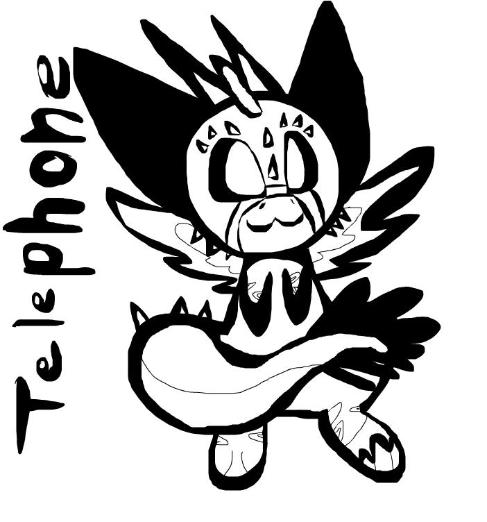 Telephone the angel dragon