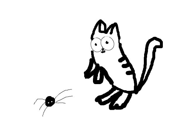 кот саймон и паучёк