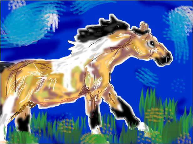 Running paint sketch