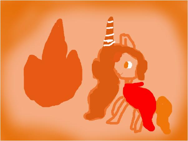 огненая пони