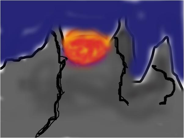 Sunset On The Mountantop