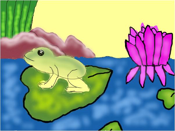 katak di air