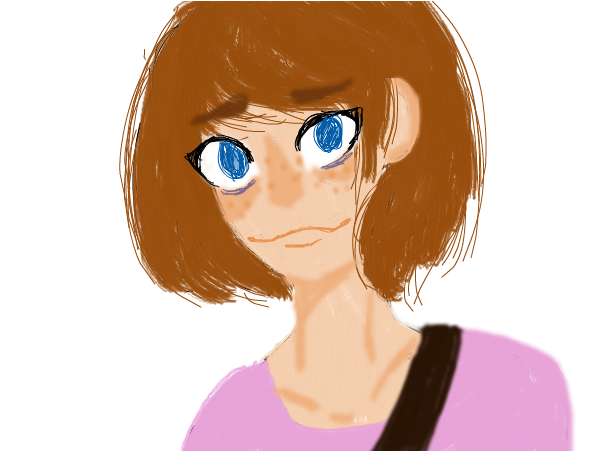 Max Caulfield with smile