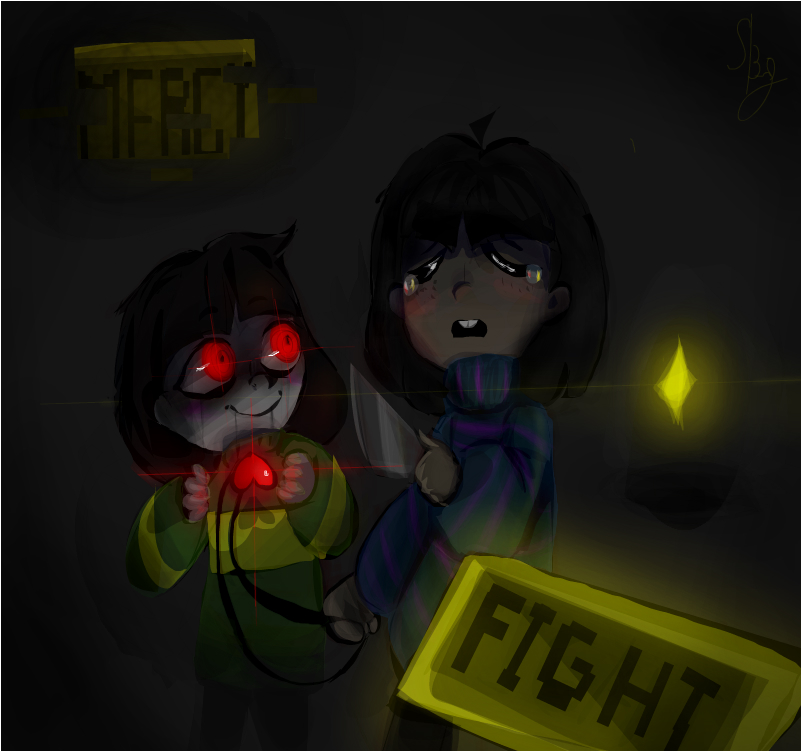 Chara and Frisk ...