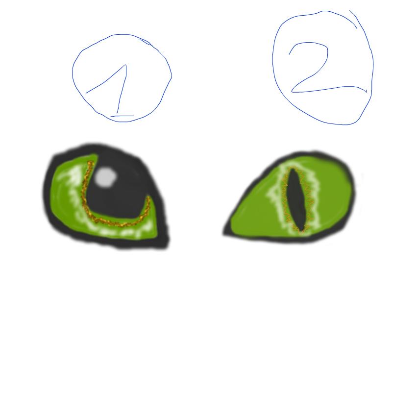 toothless eyes