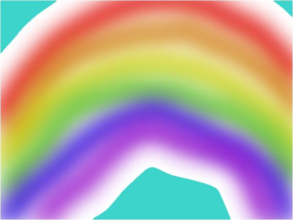 i was board so i drew a rainbow