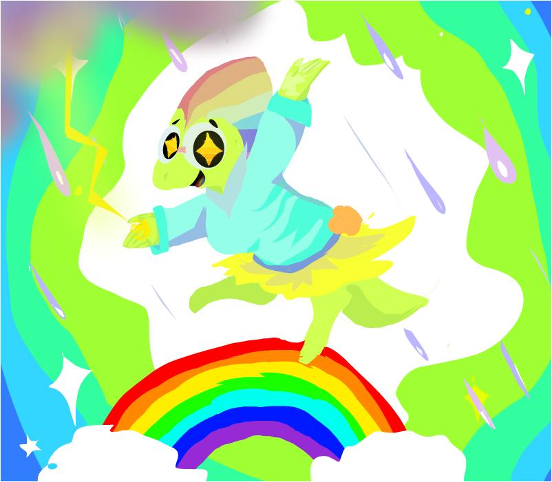 Rainbowtale alphys!