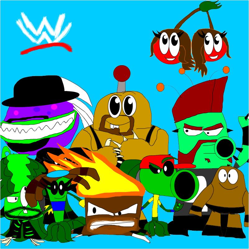 plants vs zombies WWE garden wrestlemania
