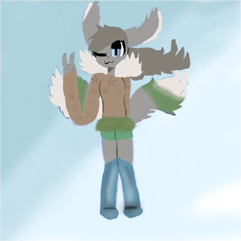 me and wolfiepaws fusion :linpaf: