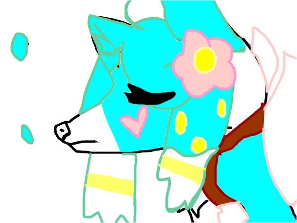 m y wolf oc for : rainpie
