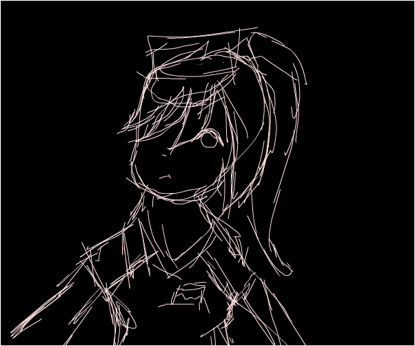rough sketch on laptop