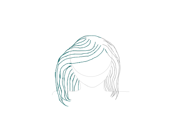 Teal hair 1