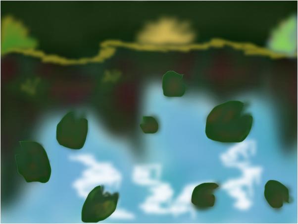 Lilypads Monet Style