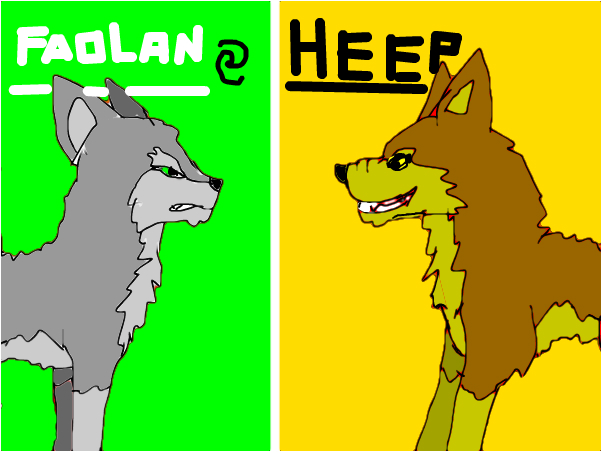 Faolan and Heep from wolves of the beyond