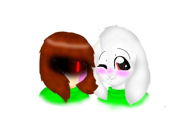 Chara and Asriel Dreemurs