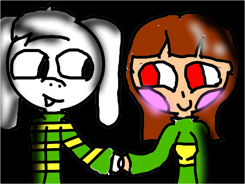 Chara and Asriel (undertale)