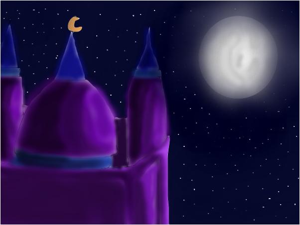 Mosque + moon