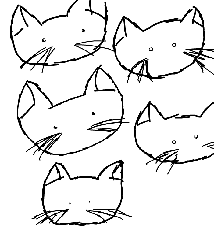 Today, I Saw Five Cats..