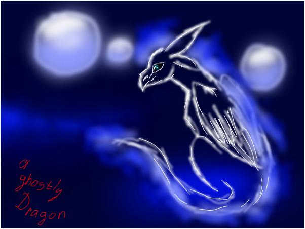 A ghostly dragon :з
