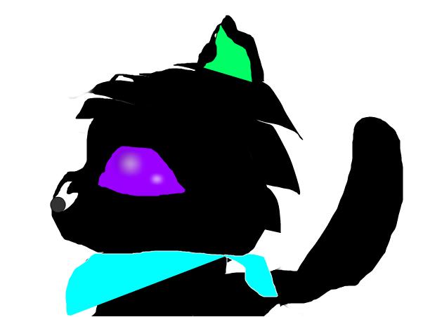 Black wolf bandana