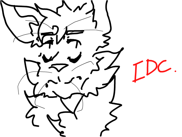 When you gave up on drawing a cat