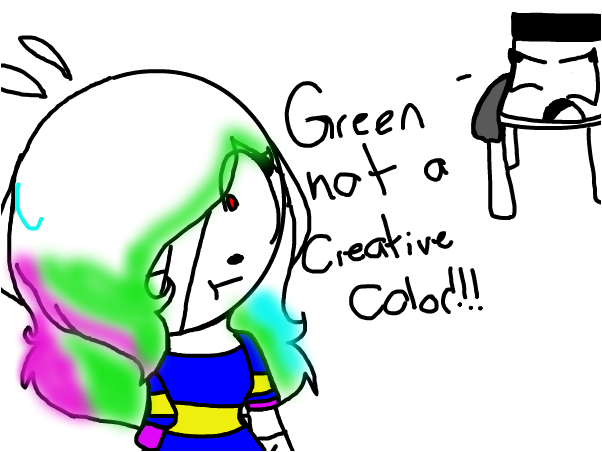 green is not a creative color!!!