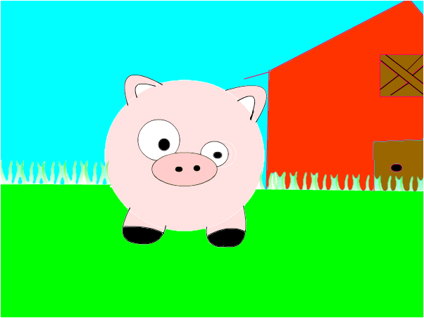 messed up pig