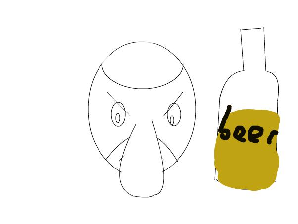 drunken squidward