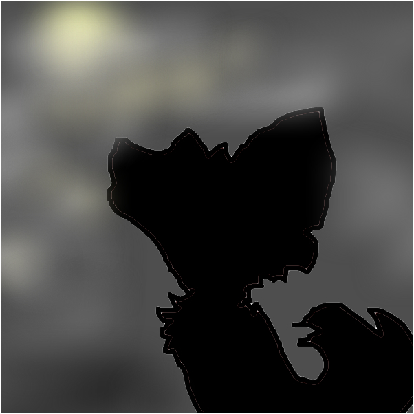 silhouette of a she-wolf