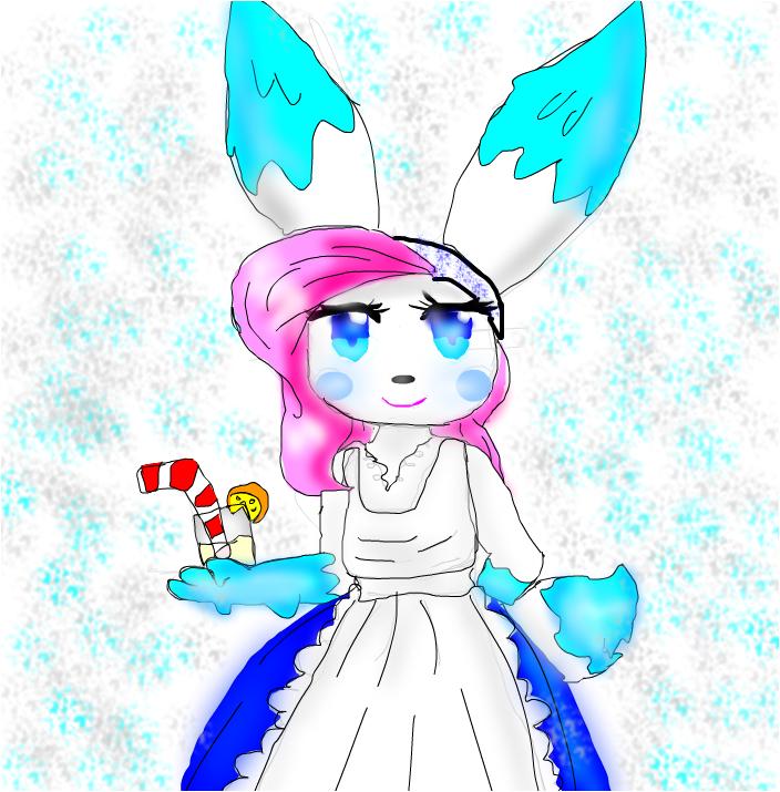 anime bunny congela