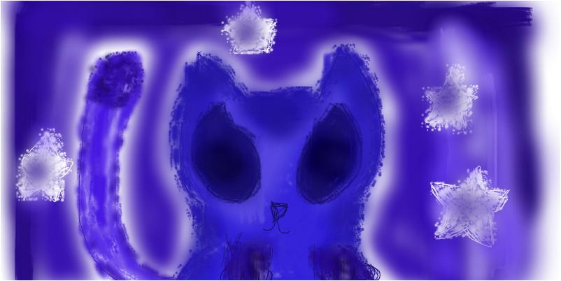 Синий котёнок