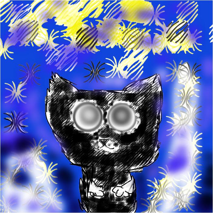 Кот гипноз