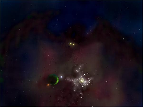 Draco SR Gas Cloud Giant Galaxy