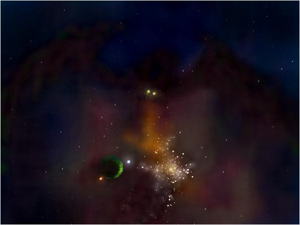 Draco SR Giant Gas Cloud Galaxy