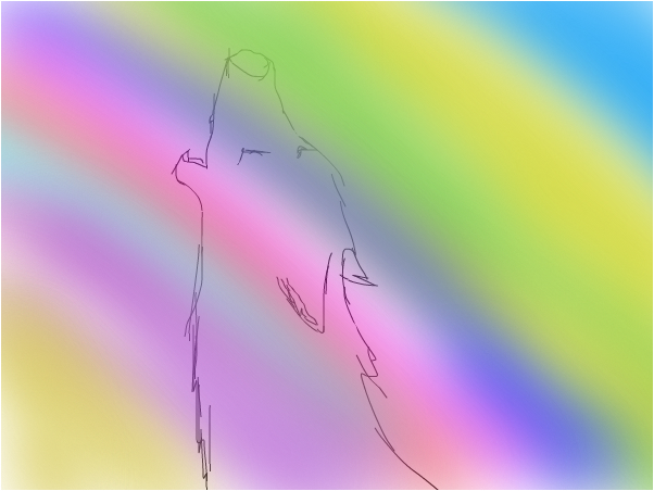 Rainbow Howler > ROUGH SKETCH <