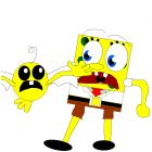 oh no man spongebob help me