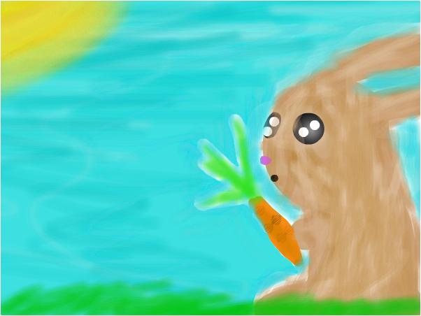 Кролик с морковкой